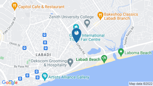 His Majesty's Hotel and Apartments Map