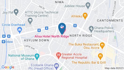 Alisa Hotel North Ridge Map