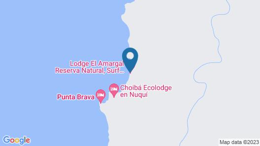 Lodge El Amargal Reserva Natural, Ecoturismo & Surf Map
