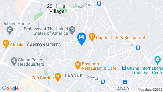 Accra Luxury Apartments Cantonments Map