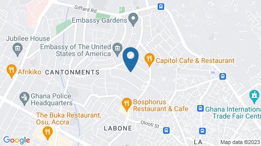 Alisa Hotel Labone Map