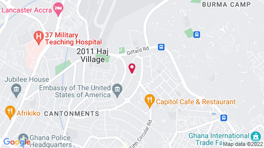 Accra Luxury Apartments @ The Gardens Map