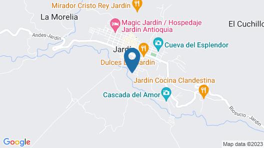 CASA AZUL LA GARRUCHA Map