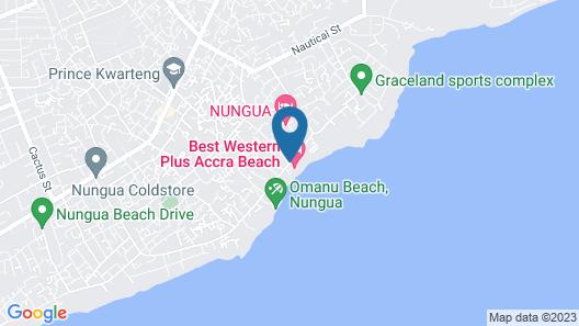 Best Western Plus Accra Beach Hotel Map