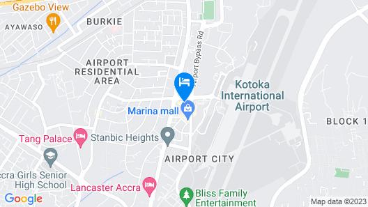 Accra Marriott Hotel Map