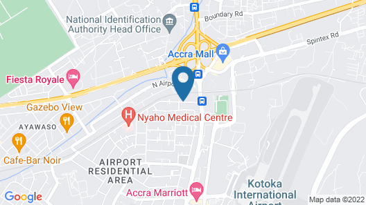 Kwarleyz Residence Accra Map