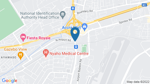 The African Regent Hotel Map