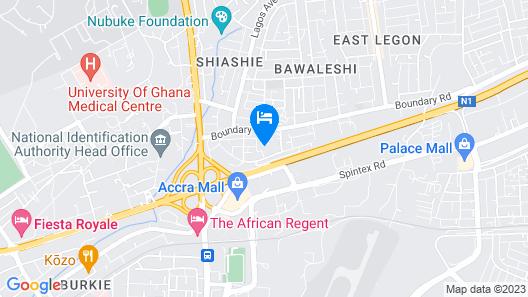 Accra Luxury Apartments Map