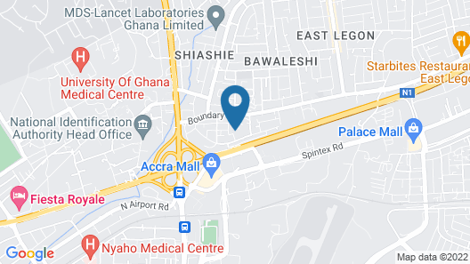 Accra Luxury Apartments Map