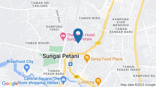 Merpati Villa a Reputable Budget Homestay Located in Sungai Petani Town Map