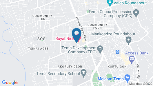 Royal Nick Hotel Map