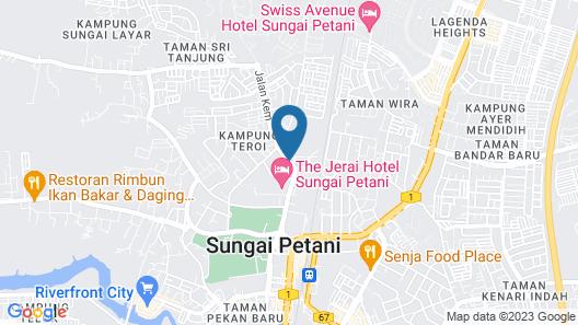 The Jerai Hotel Sungai Petani Map