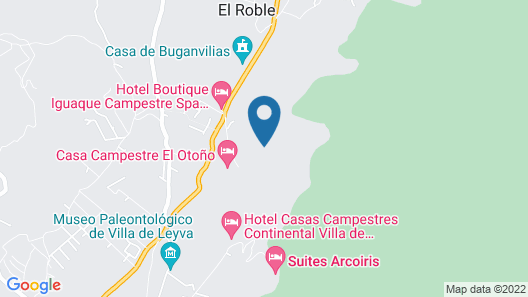 Hotel Campestre Bachue Map