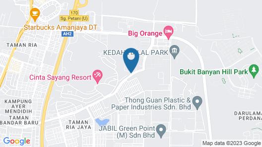 Cinta Sayang Resort Map