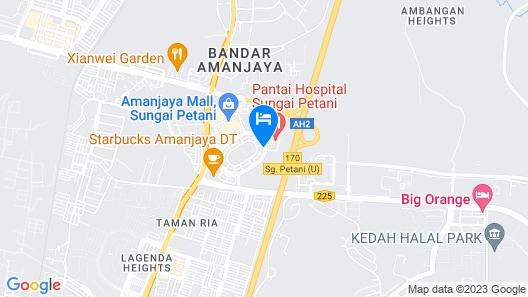 T+ Hotel Sungai Petani Map