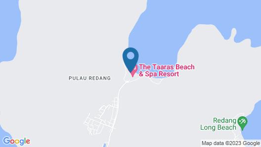 The Taaras Beach & Spa Resort Map