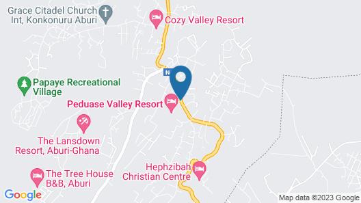 Peduase Valley Resort Map