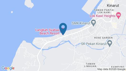 Langkah Syabas Beach Resort Map