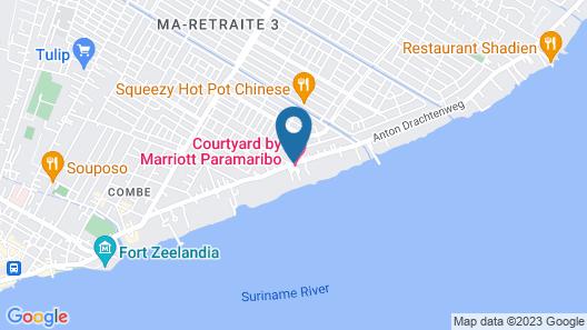 Courtyard by Marriott Paramaribo Map
