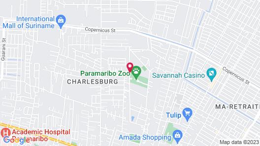 Kekemba Resort Apartments Paramaribo Map