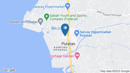 Pan Borneo Hotel Kota Kinabalu Map