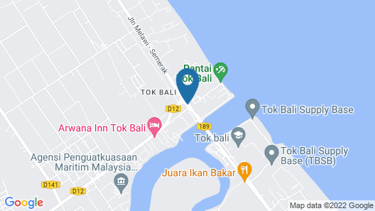 Tok Aman Bali Beach Resort Map