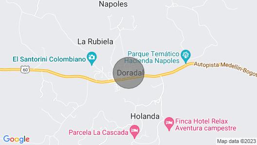 Fresco y Cercano a 1 km de la Hacienda Nápoles Map