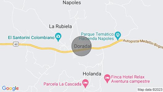 Super Alojamiento a 1km de la Hacienda Nápoles Map
