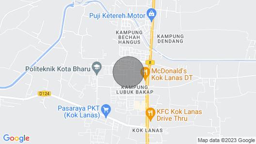 Homestay KOK Lanas-hasyam Muslim Guest House Map