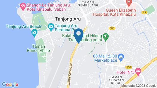 Rail Suite Aeropod [Near KK City & Airport] Map