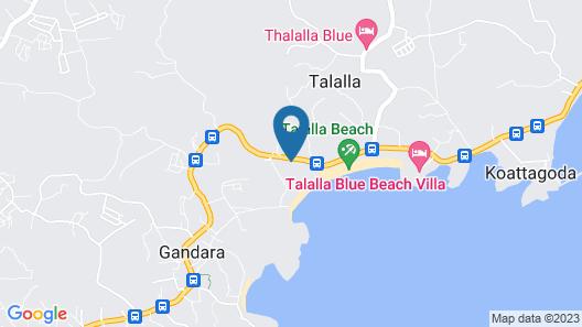Lagoon Beach Resort Map