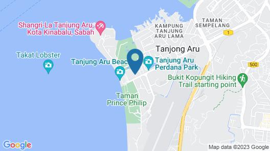 Le Le Seaside Villa Tanjung Aru Map