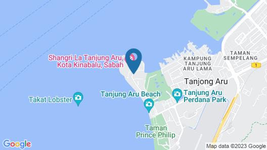 Shangri-La Tanjung Aru, Kota Kinabalu Map