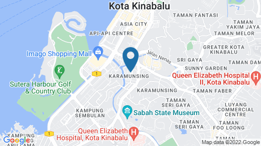 One Hotel Sadong Jaya Map