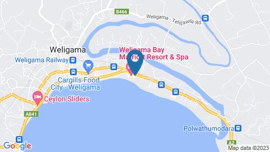 Weligama Bay Resort Map