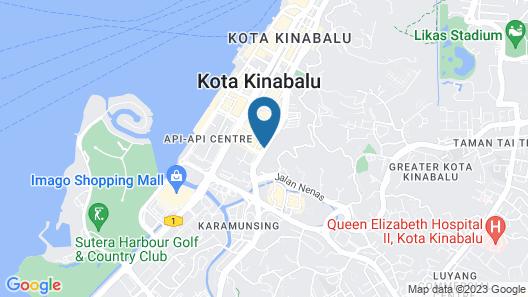 Hilton Kota Kinabalu Map