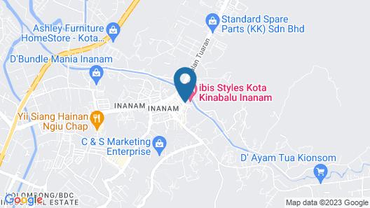 Ibis Styles Kota Kinabalu Inanam Hotel Map