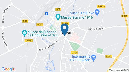 Hotel de la paix Map