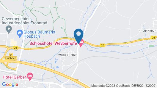 Schlosshotel Weyberhöfe Map