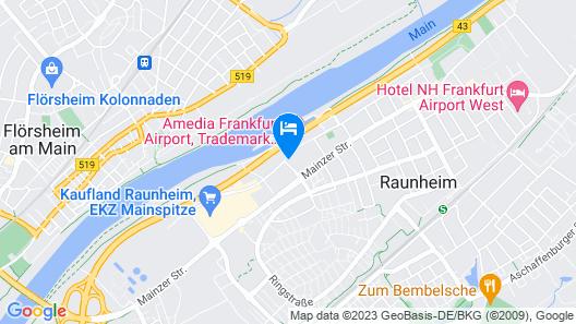 Amedia Hotel & Suites Frankfurt Airport Map