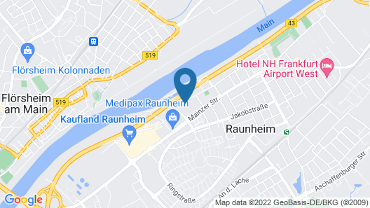 Best Western Amedia Frankfurt Airport Map