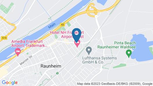 NH Frankfurt Airport West Map
