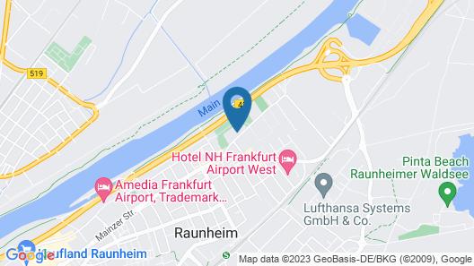 Hotel Attaché Frankfurt Airport Raunheim Map