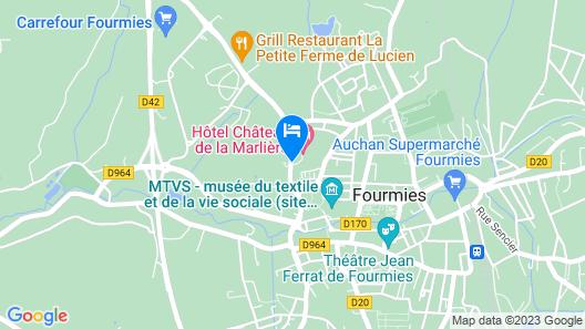 Hôtel Château de la Marlière Map