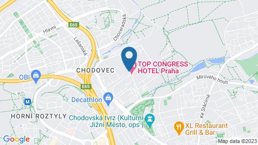 TOP Hotel Praha Map