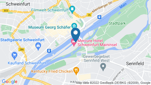 Mercure Hotel Schweinfurt Maininsel Map