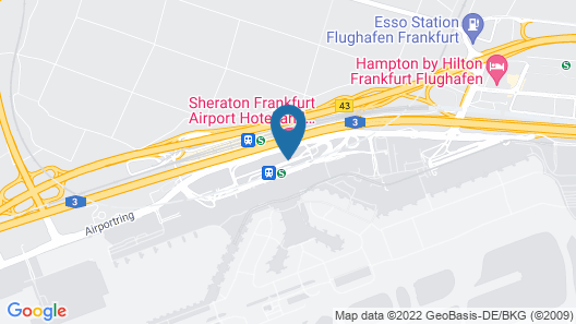 Frankfurt Airport Marriott Hotel Map