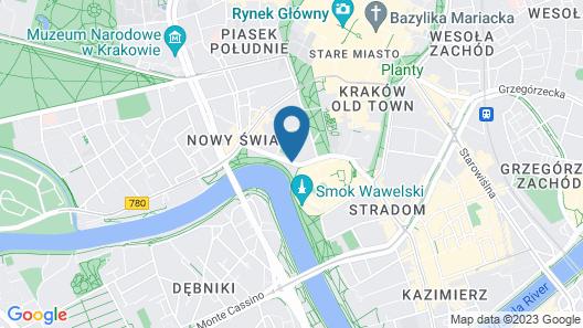 Hotel Pod Wawelem Map