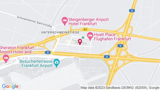 Moxy Frankfurt Airport Map