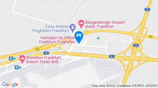 Hampton by Hilton Frankfurt Airport Map